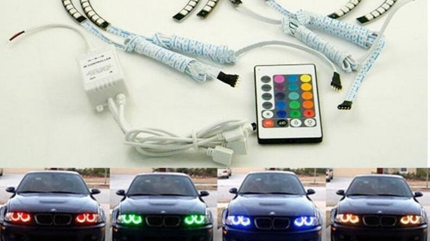 KIT ANGEL EYES BMW E46 MULTICOLOR  - 299 LEI