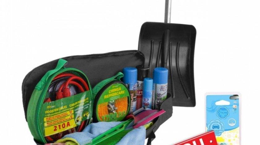 Kit Auto De Iarna Ro Group Lopata, Cablu incarcare, Chinga remorcare, Raclete, Spray + Odorizant Cadou RD4032