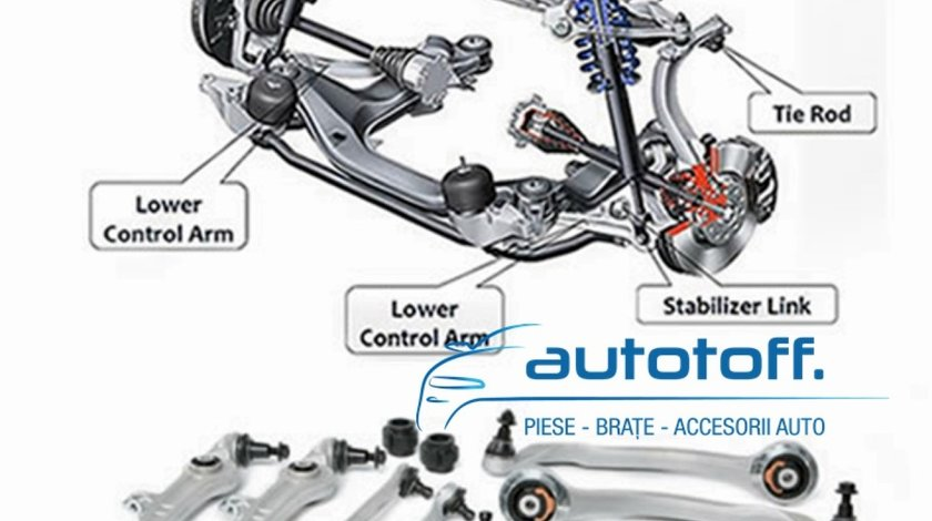 Kit Brate 12 piese Audi A4 B5 A6 4B C5 VW Passat B5 3B 3BG  HD-Version