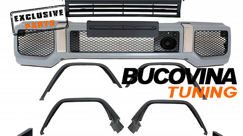 Kit Exterior Complet Mercedes Benz W463 G-Class (89-17) G65 G63 AMG Design cu Grila Centrala GT-R