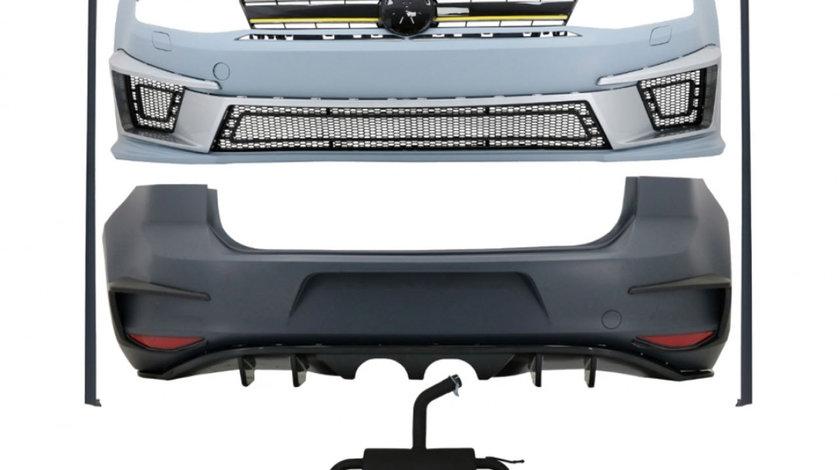 Kit Exterior Complet VW Golf VII (2012-2017) R400 Look cu Sistem de evacuare
