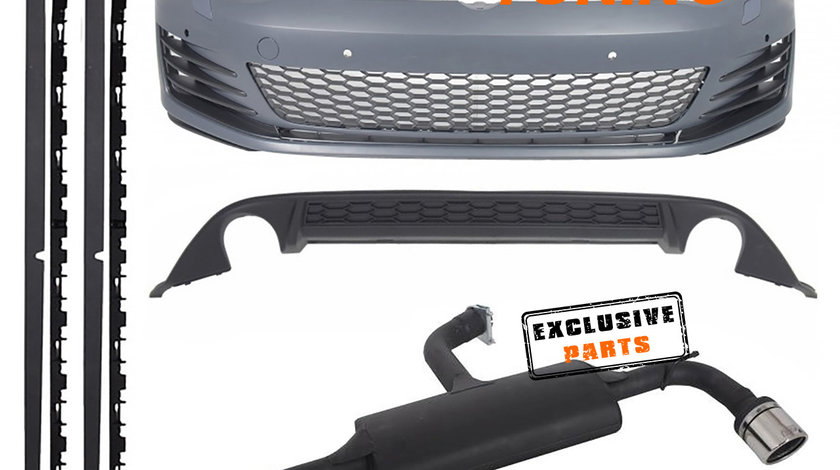 Kit Exterior cu Sistem de Evacuare VW Golf 7 (13-17) GTI Design