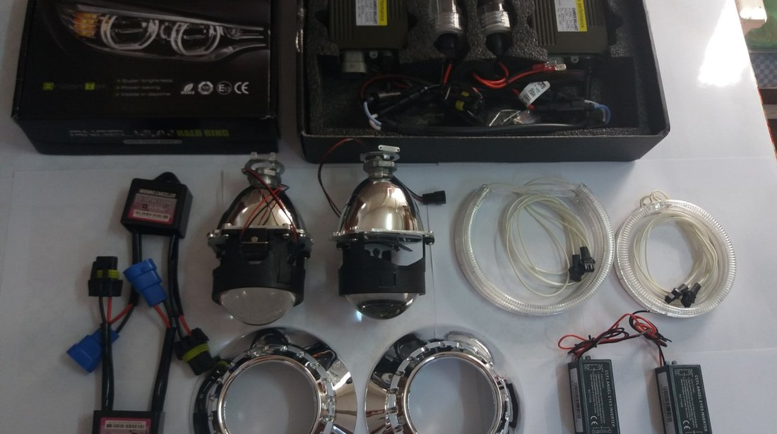 Kit Far BMW E90/91 Lupe Bixenon+Xenon Canbus+Angel Eyes