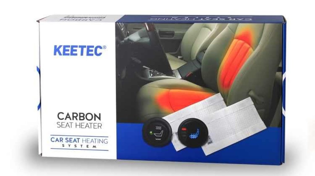 Kit Incalzire In Scaune Auto Alfa Romeo KEETEC CSH2 Carbon Butoane OEM 3 Pozitii Montaj Profesional