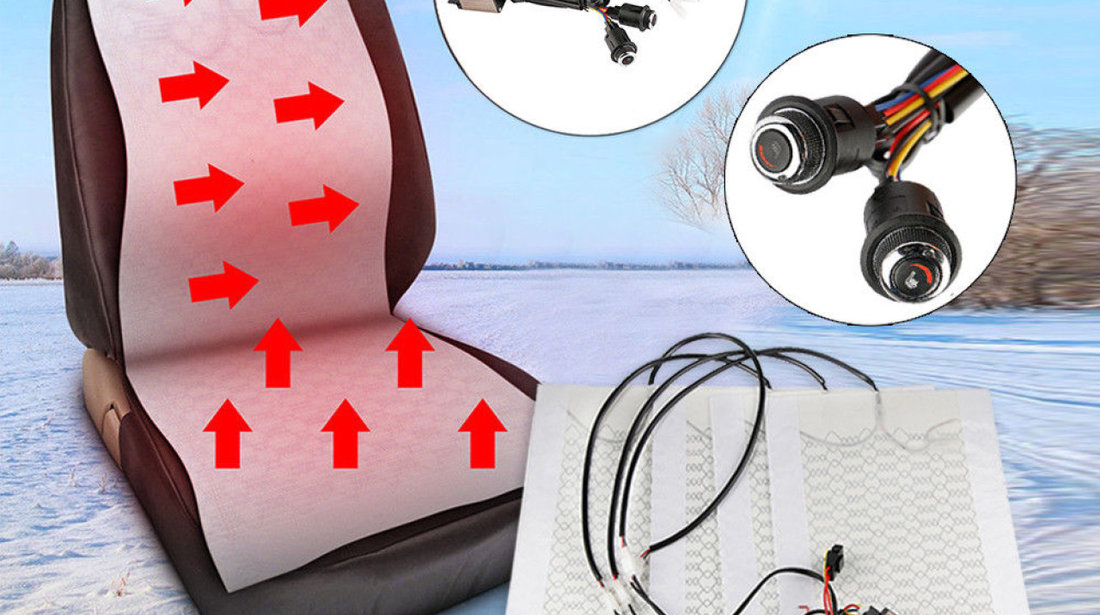 Kit Incalzire In Scaune Auto Carbon Buton OEM BMW LUXURY 6 Pozitii Montaj Profesional