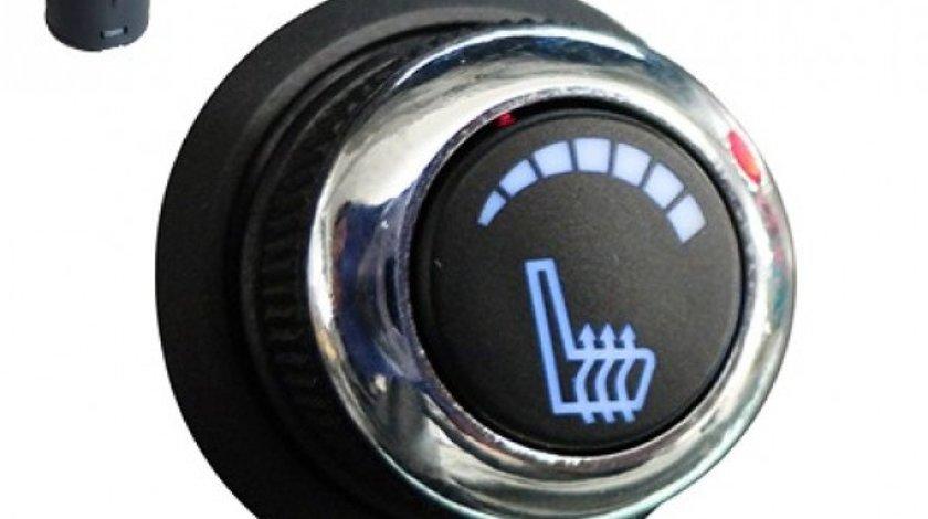 Kit Incalzire In Scaune Auto Carbon Buton OEM KIA LUXURY 6 Pozitii Montaj Profesional In