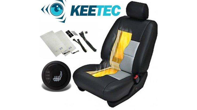 Kit Incalzire In Scaune Auto Fiat KEETEC CSH2 Carbon Butoane OEM 3 Pozitii Montaj Profesional