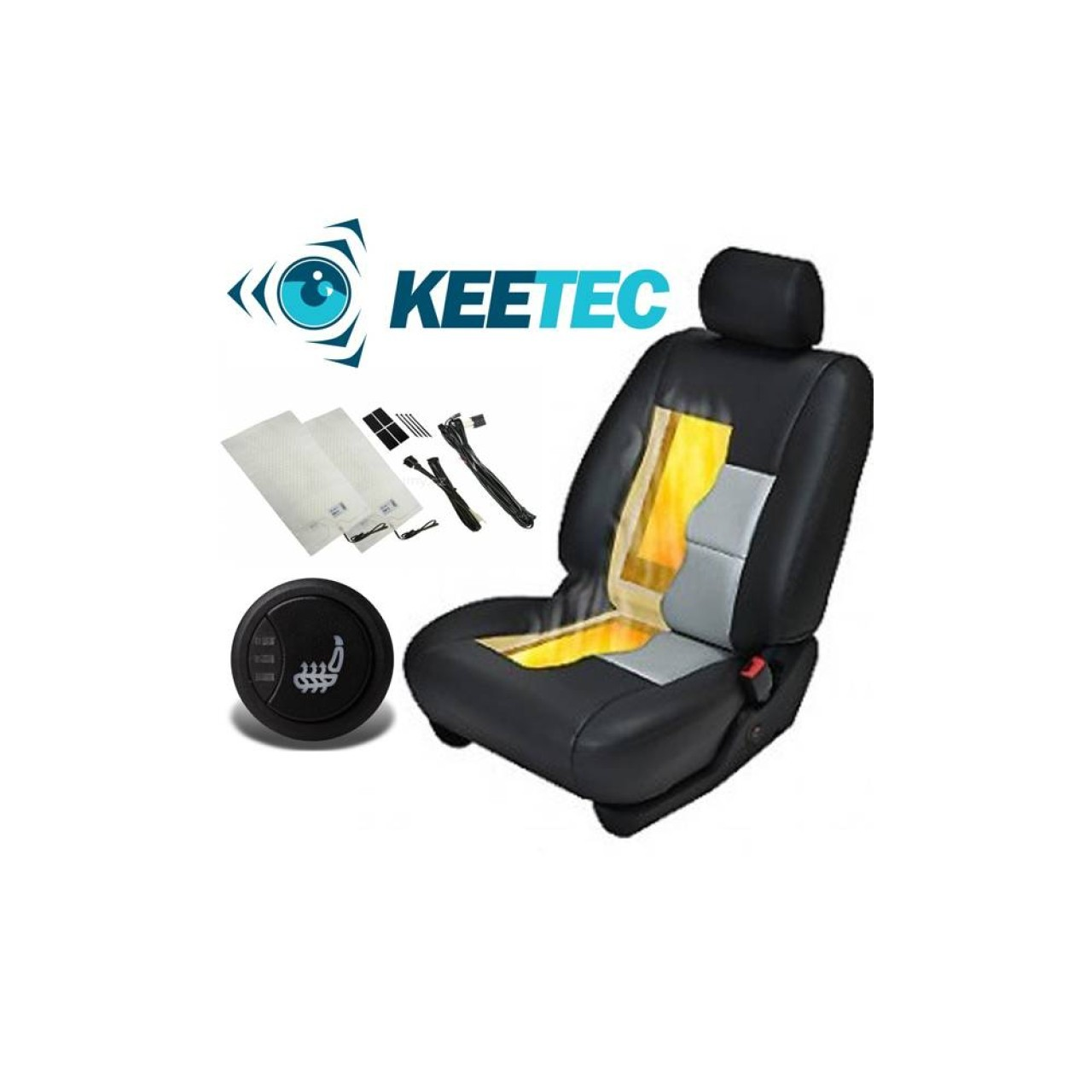 Kit Incalzire In Scaune Auto Renaut KEETEC CSH2 Carbon Butoane OEM 3 Pozitii Montaj Profesional