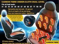 Kit Incalzire In Scaune Carbon Dedicat AUDI A3 A4 A5 A6 A7 A8 Q3 Q5 Q7 TT R8 RS Montaj Calificat