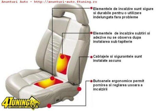 KIT INCALZIRE IN SCAUNE CARBON DEDICATE VW SKODA SEAT BUTOANE OEM 5 TREPTE MONTAJ PROFESIONAL