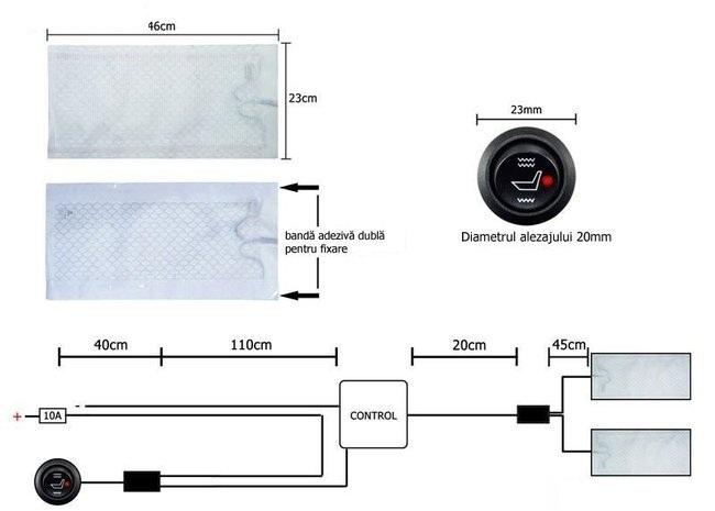 Kit Incalzire In Scaune DEDICAT  VW Tehnologie Carbon Montaj Profesional In Toata Tara La Super Pret