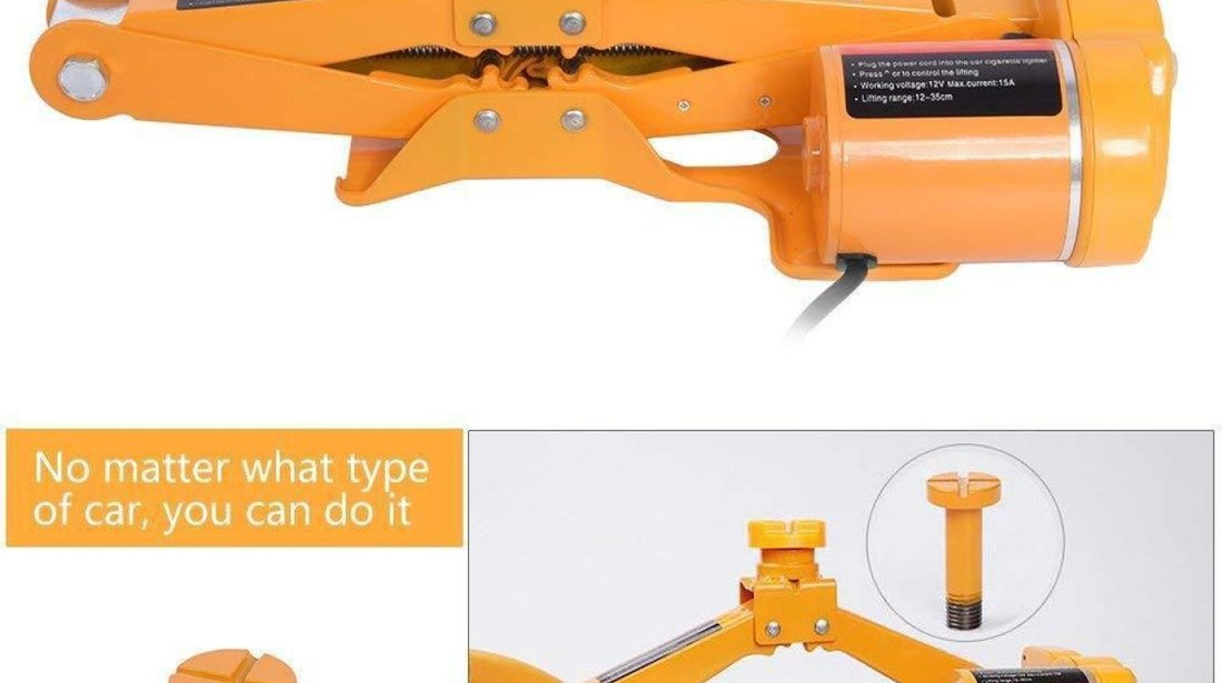 Kit pana electric: Cric electric, Cheie roti Electrica + Accesorii