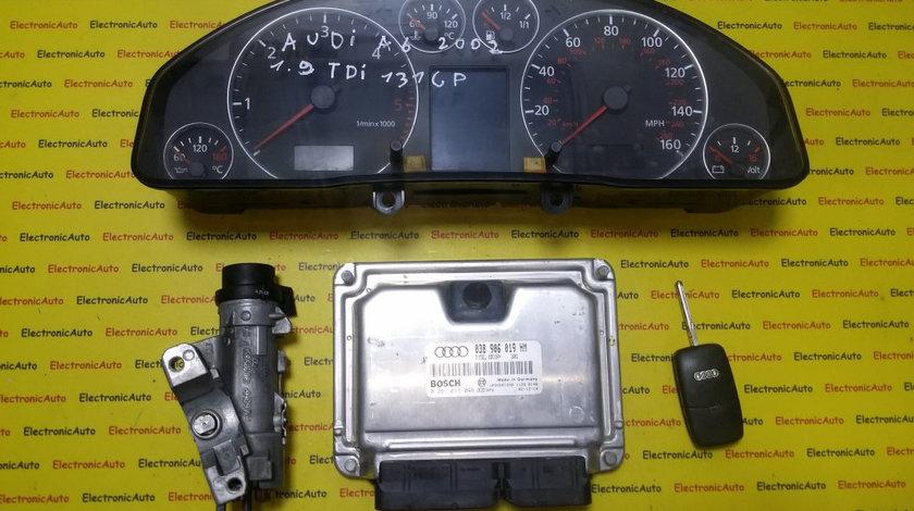Kit pornire Audi A6 1.9 tdi 0281011046, 038906019HM, motor AVF