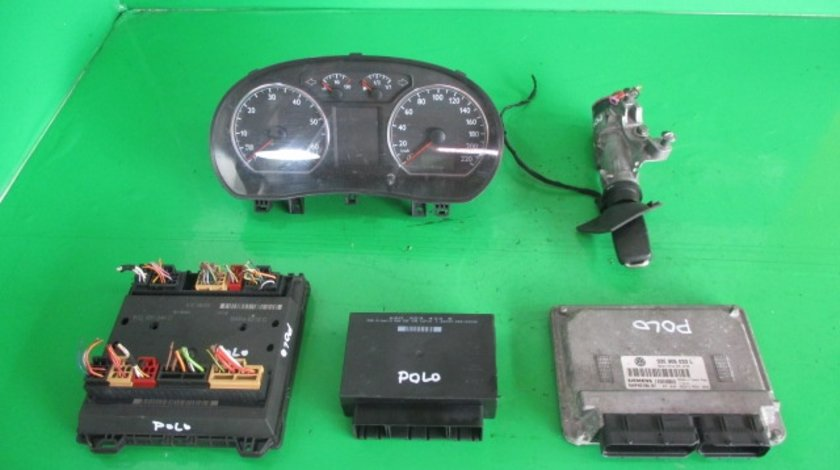 KIT PORNIRE COMPLET CALCULATOR / ECU 03E906033L VW POLO 9N FAB. 2001 - 2007 1.2 12V 64cp 47kw ⭐⭐⭐⭐⭐