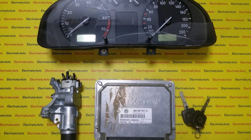 Kit pornire ECU Calculator motor VW Passat 1.6 3B0907557D, 5WP436702, motor AHL