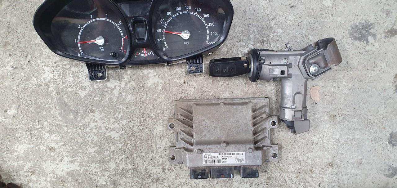 Kit pornire Ecu motor cu contact Ford Fiesta MK6 1.25 Benzina 2010 2011 2012 2013