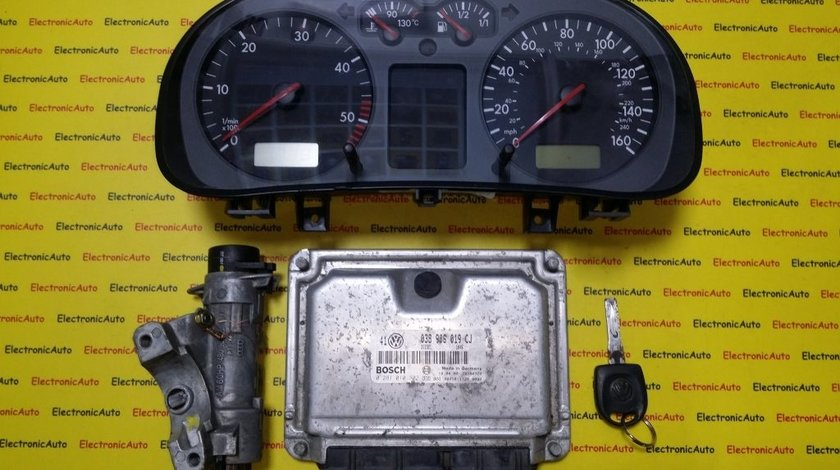 Kit pornire VW Golf4 1.9 tdi 0281010302, 038906019CJ, motor AJM