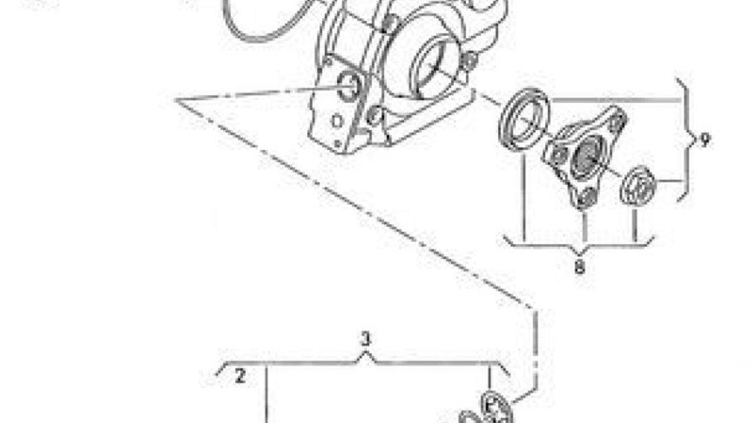 Kit reparatie cuplaj Haldex grup punte spate Vw Tiguan 4x4 (poz.3) VW OE 0AY598301
