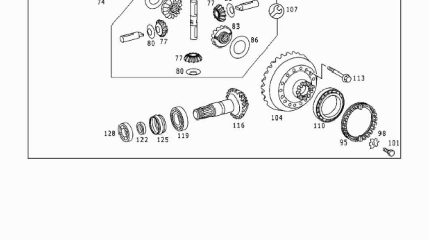 Kit reparatie diferential spate Axor,Axor(poz.107) MERCEDES OE 948 350 01 23