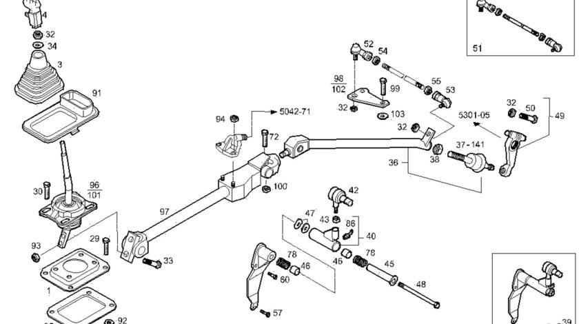 Kit reparatie levier schimbator viteze Iveco Stralis (poz.40) IVECO OE 500341178