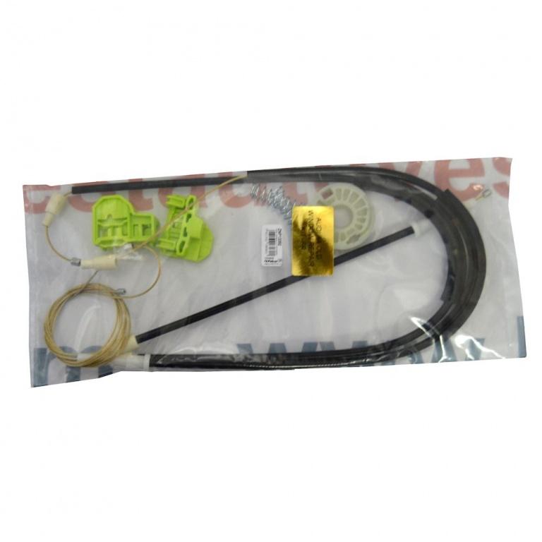 Kit reparatie Mecanism ridicare geam fata Audi A4 (B5 ) 1994-2001 electrica dreapta (cablu role si suport geam)
