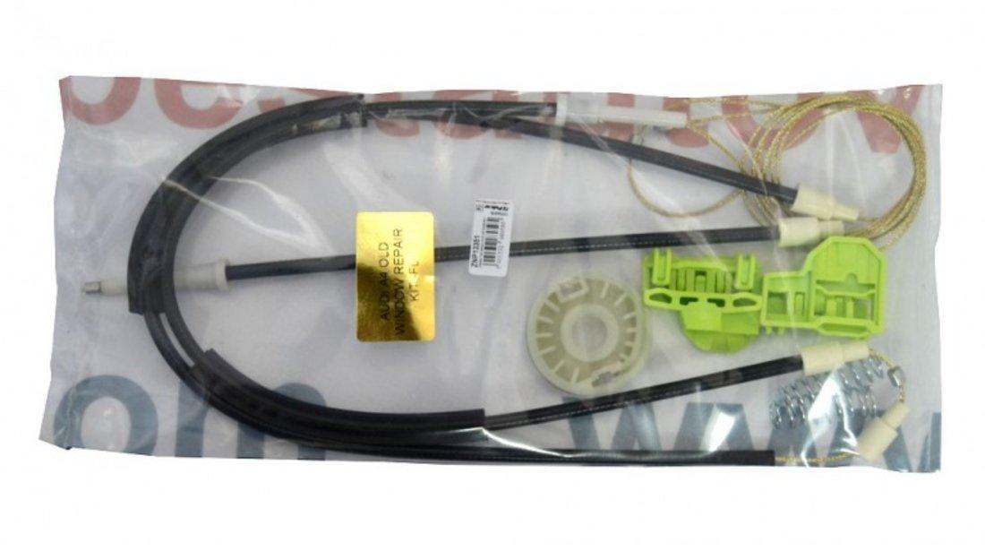 Kit reparatie Mecanism ridicare geam fata Audi A4 (B5 ) 1994-2001 electrica stanga (cablu role si suport geam)