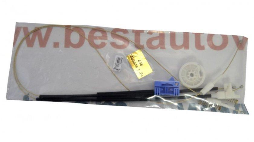 Kit reparatie Mecanism ridicare geam fata Renault Megane 1 4/5 Usi 95-02 Renault Scenic electrica stanga (cablu role si suport geam)