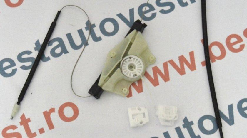 Kit reparatie Mecanism ridicare geam fata Seat Leon 1M, Toledo 1999-2005, Stanga(cablu role si suport geam)