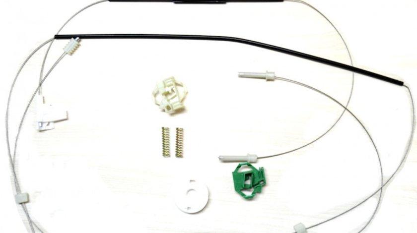 Kit reparatie Mecanism ridicare geam fata Skoda Octavia 1 (1U2/1U5) electrica - fata dreapta (cablu role si suport geam) Kft Auto