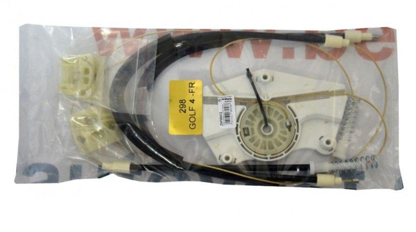 Kit reparatie Mecanism ridicare geam fata Vw Bora Vw Golf 4 5usi electrica fata dreapta (cablu role si suport geam)