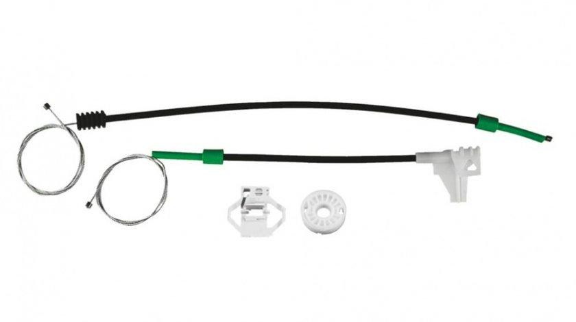 Kit reparatie Mecanism ridicare geam spate Skoda Octavia 1 (1U2/1U5) electrica - spate stanga (cablu role si suport geam)