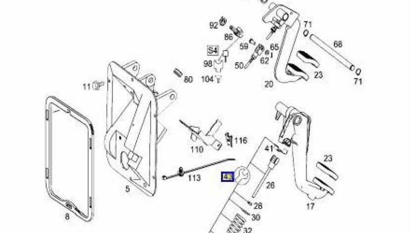 Kit reparatie pedala ambreiaj Mercedes Atego (poz.43) MERCEDES OE A9702900093