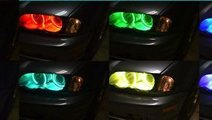Kit RGB Led Angel Eyes BMW 16 culori cu telecomand...
