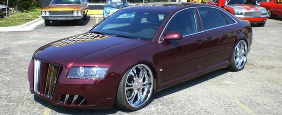 Kitsch tuning-ul de vineri: Si Audi-urile A8 plang cateodata