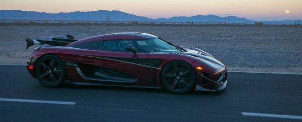 Koenigsegg Agera RS este cea mai rapida masina de serie din istorie, cu o viteza maxima de 457,5 km/h