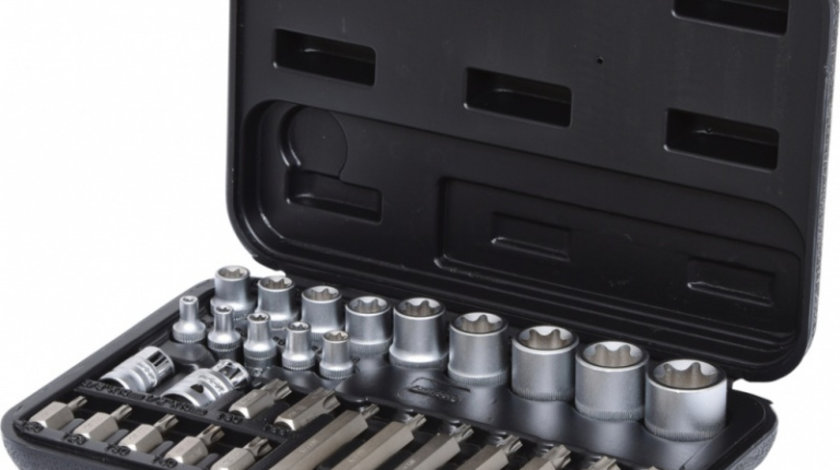 Ks Tools Set Chei Tubulare Torx Si Biti 30 Piese 911.4301-1