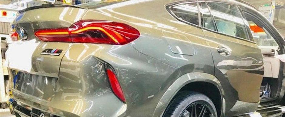 L-a pozat chiar in fabrica, imediat ce a parasit linia de productie. Acesta este noul BMW X6!