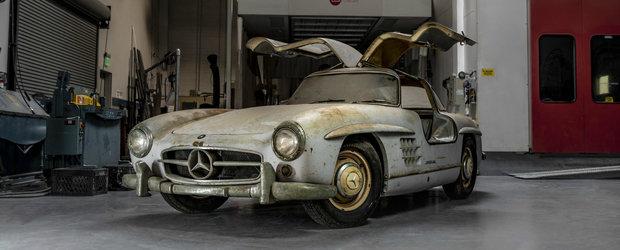 L-au gasit intr-un garaj dupa 54 de ani. Modelul legendar de la MERCEDES are inca anvelopele originale