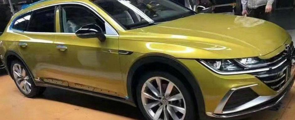 L-au pozat chiar in fabrica, imediat ce a parasit linia de productie. Acesta este noul Volkswagen Arteon Shooting Brake!