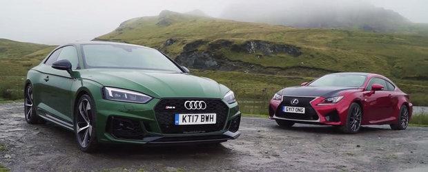 L-au pus in fata singurului rival cu motor aspirat in opt cilindri. Test comparativ intre Audi RS5 si Lexus RC F