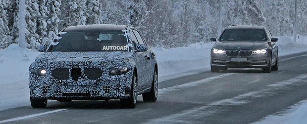 L-au surprins in teste alaturi de BMW Seria 7. POZE NOI cu viitorul Mercedes S-Class