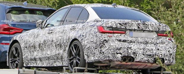 L-au surprins in timp ce era transportat. Detaliul care creeaza confuzie printre fanii noului BMW M3