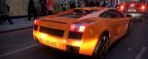 Lamborghini Gallardo cu flacari pe evacuare