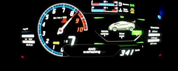 Lamborghini Huracan atinge 340 km/h intr-un nou test de performanta