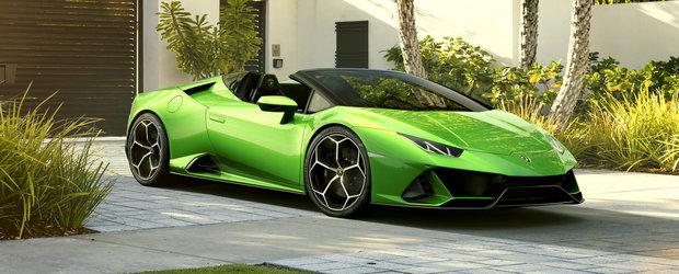 Lamborghini HURACAN EVO SPYDER: aceiasi 640 de cai putere dar acum cu plafon retractabil