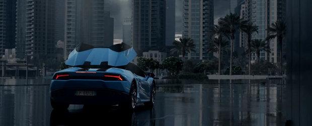 Lamborghini Huracan Spyder 'deschide' cerul in primul sau promo oficial