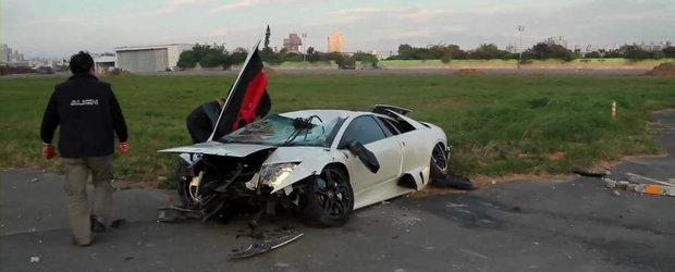 Lamborghini LP640 versus Elicopter RC: Cursa cu final total neasteptat