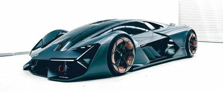 Lamborghini prezinta conceptul Terzo Millennio: supercar-ul viitorului are caroserie care se repara singura