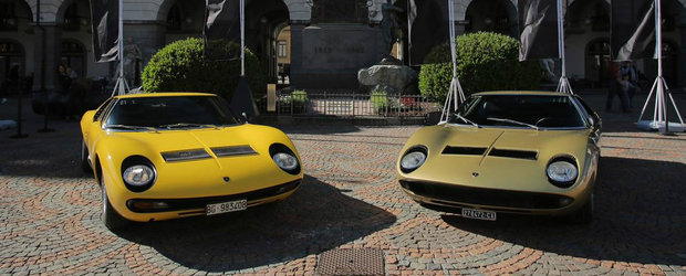 "Lamborghini reface drumul din ""The Italian Job"" la aniversarea a 50 de ani de Miura"