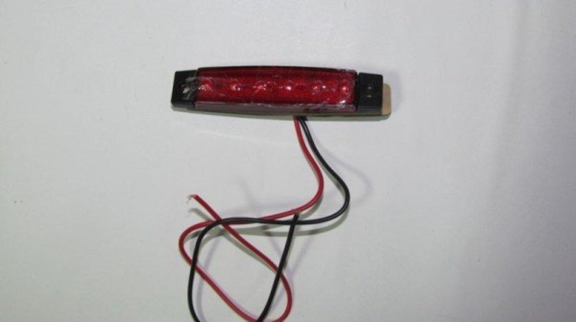 LAMPA LATERALA CU 6 LED-URI 12V LUMINA ROSIE